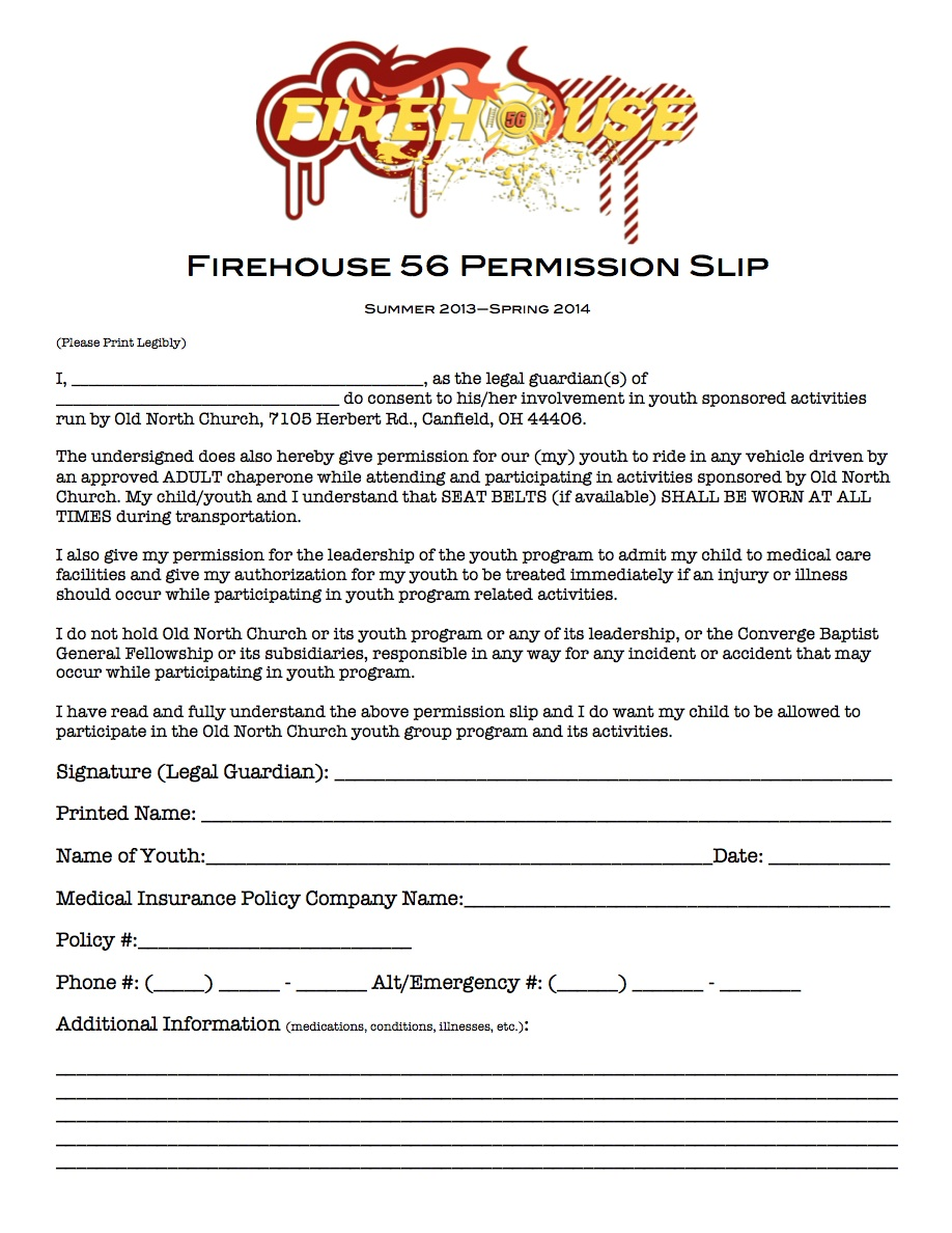 It's just an image of Lively Printable Permission Slips